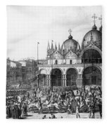 Venice: Saint Marks, 1797 Fleece Blanket