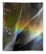 Vernal Falls Rainbow At Yosemite Fleece Blanket