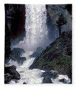 Vernal Falls Spring Flow Fleece Blanket