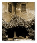 Verona Courtyard II In Sepia Fleece Blanket