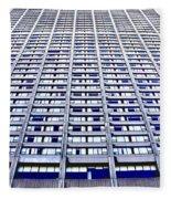 Vertical Urbanization Fleece Blanket