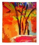Vibrant Bouquet Fleece Blanket