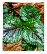 Vibrant Ground Cover  Fleece Blanket