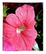Vibrant Petunias Fleece Blanket