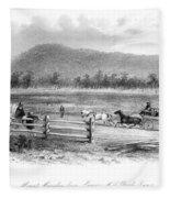 Victoria, Australia, 1856 Fleece Blanket