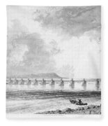 Victoria Bridge Fleece Blanket