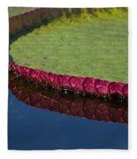 Victoria Amazonica Leaf Fleece Blanket