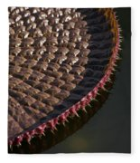 Victoria Amazonica Leaf Vertical Fleece Blanket