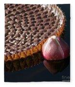 Victoria Amazonica Giant Water Lily Fleece Blanket