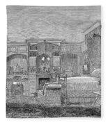 Victorian Bedroom, 1884 Fleece Blanket