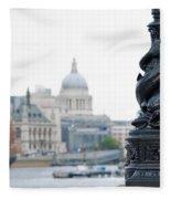 Victorian Lampposts Fleece Blanket