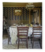 Victorian Sedman Home Dining Room - Nevada City Montana Fleece Blanket