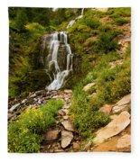 Vidae Falls Landscape Fleece Blanket