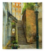 Viennese Side Street Fleece Blanket