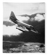 Vietnam War: A4 Skyhawk Fleece Blanket