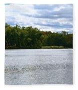 View Across The River Fleece Blanket