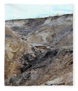 View From A Sinkhole Fleece Blanket