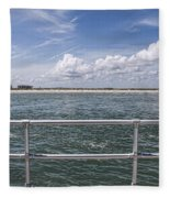 View From Across The Bay Fleece Blanket