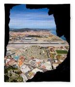 View From Inside Of The Gibraltar Rock Fleece Blanket