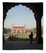 View From Inside The Red Fort With Tourist Fleece Blanket