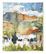 View From My Balcony In El Albir Fleece Blanket