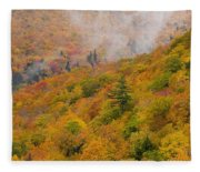 View From North Mountain Look-off Fleece Blanket