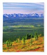 View From Ogilvie Ridge Lookout Fleece Blanket