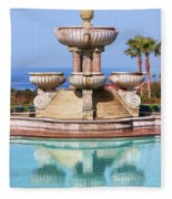 View From Paradise Fleece Blanket