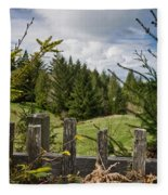 View From Picket Fence Fleece Blanket