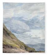 View From Skiddaw Over Derwentwater  Fleece Blanket