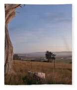 View From Table Bluff Fleece Blanket