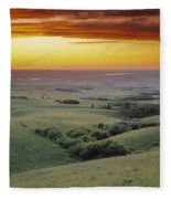 View From The Cypress Hills Fleece Blanket