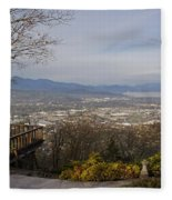 View From The Home On Top Of The Hill Fleece Blanket