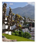 View From The Parador Nerja Fleece Blanket