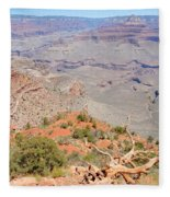 View From The South Kaibab Trail II Fleece Blanket