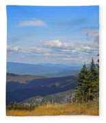 View From Top Of Cannon Mountain Fleece Blanket