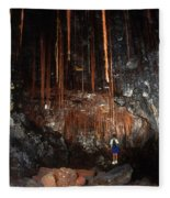View Inside Kaumana Lava Tube, Hawaii Fleece Blanket
