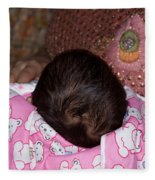 View Of A Mother Holding Her Baby With Only The Hair On The Head Visible Fleece Blanket
