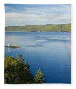View Of Boulardarie Island From Seal Fleece Blanket