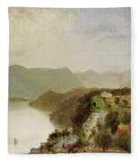 View Of Cozzen's Hotel Near West Point Ny Fleece Blanket