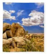 View Of Joshua Tree Fleece Blanket