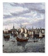 View Of London, 1550 Fleece Blanket
