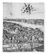 View Of London, 1647 Fleece Blanket