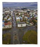 View Of Reykjavik Fleece Blanket
