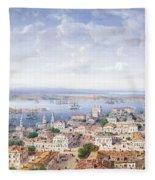 View Of Sebastopol  Fleece Blanket