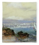 View Of Sydney Harbour Fleece Blanket