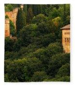 View Of The Alhambra In Spain Fleece Blanket
