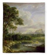 View Of The City Of Edinburgh Fleece Blanket