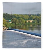 View Of The Fairmount Dam  Fleece Blanket