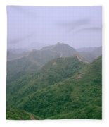 View Of The Great Wall Of China Fleece Blanket